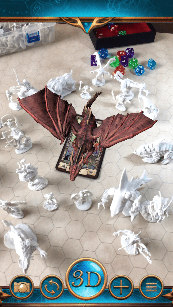 Animated Dragon attacking party